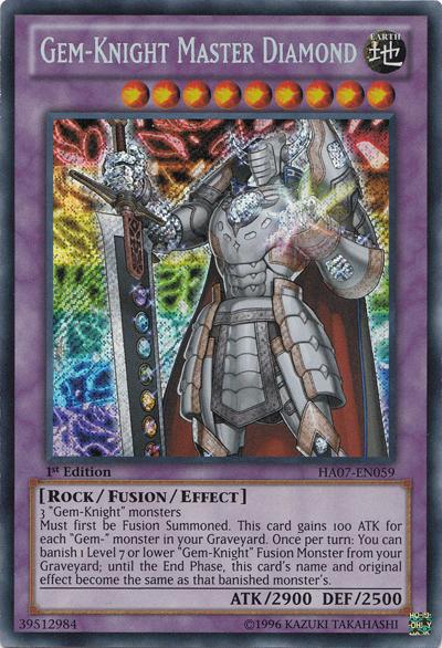 Gem-Knight Master Diamond - HA07-EN059 - Secret Rare - Unlimited Edition