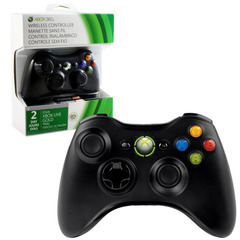 Accessory: Controller Wireless Black Xbox 360 1st Party
