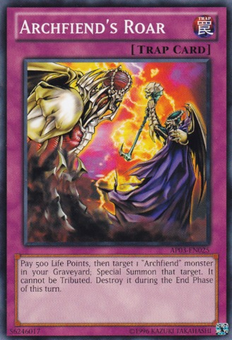 Archfiend's Roar - AP03-EN025 - Common - Unlimited Edition
