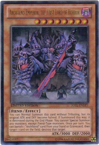 Archfiend Emperor, the First Lord of Horror - JOTL-ENDE1 - Ultra Rare - Limited Edition
