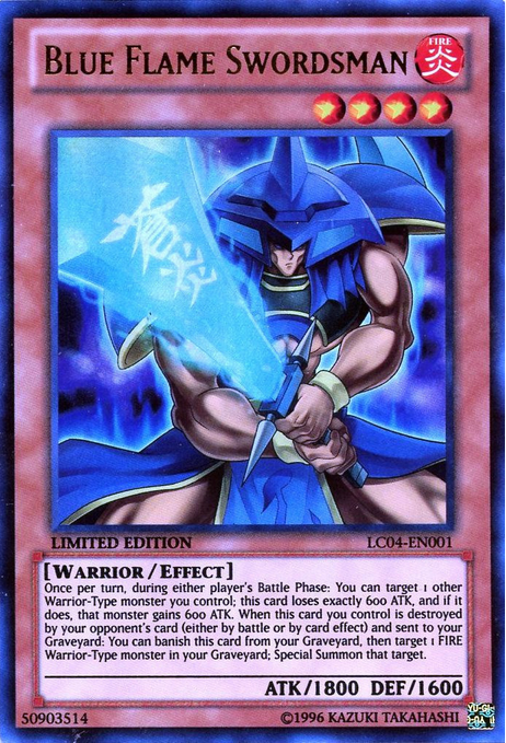 Blue Flame Swordsman - LC04-EN001 - Ultra Rare - Limited Edition - Promo