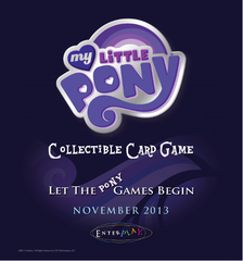 My Little Pony Collectible Card Game Theme Deck Display Box (8 decks)