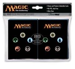 Ultra Pro Sleeves - Magic - Mana 4 Symbols - 80 count