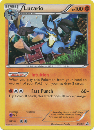Lucario - BW85 - Promotional