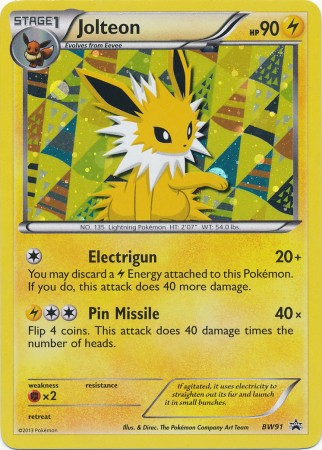 Jolteon - BW91 - Promotional