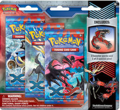 Pokemon XY 3-Booster Blister Pack - Yveltal Pin