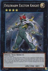 Evilswarm Exciton Knight - LVAL-EN056 - Secret Rare - 1st Edition on Channel Fireball